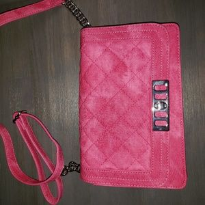 Mix No6 Chaessa quilted suede crossbody purse